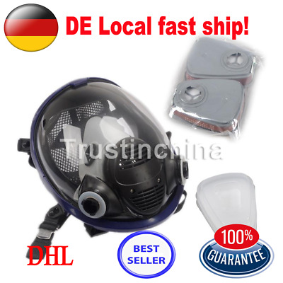 7 in 1 Facepiece Respirator Painting Spraying For 3M 6800 Full Face Gas Mask DE
