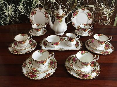 ROYAL ALBERT England OLD COUNTRY ROSES, edles 22- tlgs Kaffeeservice / 6 Pers.