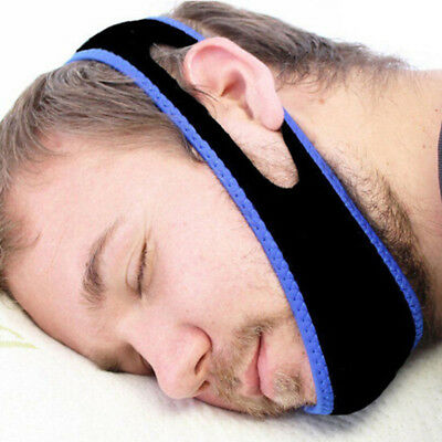Stop Snoring Chin Strap Anti Snore Belt Jaw Support Solution Sleep Band New