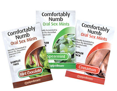 Edible Comfortably Numb Mints Oral Sex Helper Cinnamon Mint Chocolate Spearmint