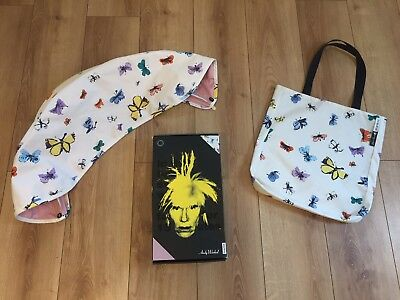 Immaculate Limited Edition Bugaboo Bee 3 Andy Warhol Butterflies Pink Hood & Bag
