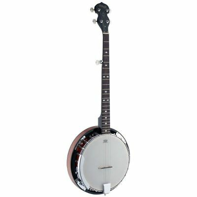 Stagg BJW24DL 5 String Highgloss Deluxe Western Banjo with Resonator New