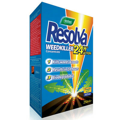 Westland - 250ml Resolva 24HR Concentrate - Strong Fast Acting Weed Root Killer