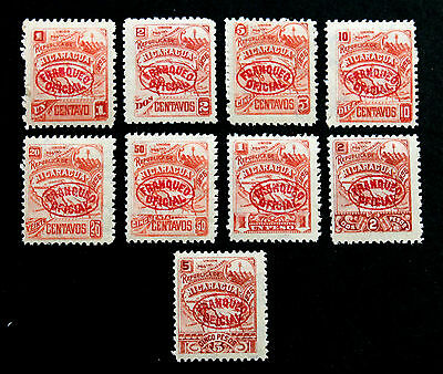 Stamp Nicaragua Sc# O82-O90 MH Official Complete Set 1896