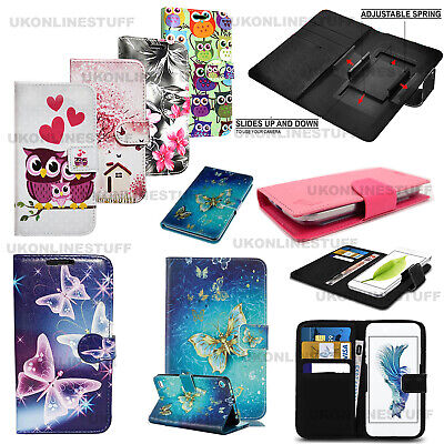 For Various LG Mobile Phones-Leather Wallet Card Stand Flip Universal Case Cover