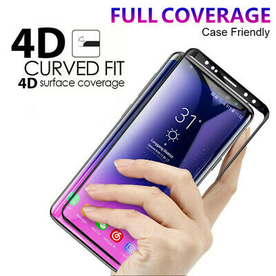 Tempered Glass Full Cover Screen Protector For Galaxy S9 S8 Plus Note 8