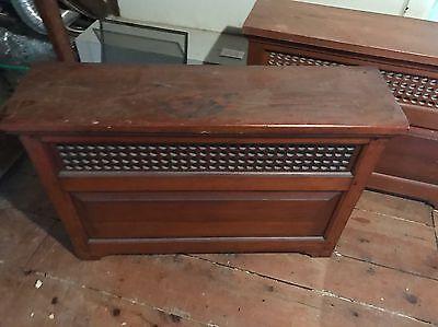 Set Of 3 1930s Solid Wood Radiator Covers