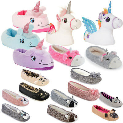 Womens Ladies Ballerina Slippers Ballet Flats Pumps Novelty Soft Faux Fur Gift