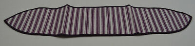 Longaberger Purple Ticking Handle Tie Collectible Accessory Fabric Home Decor