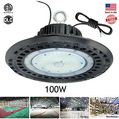 100W LED High Bay Lights for Warehouse Mall Gym Industrial Commercial Shop Low