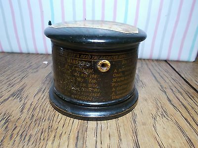 Rare Antique Clark Cotton Reel Box  Fortune Game Transfer Ware Victorian 1870