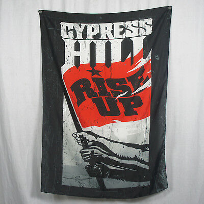 Authentic CYPRESS HILL Rise Up Logo Cover Silk-Like Fabric Poster Flag NEW