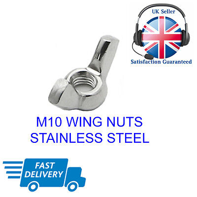 M10 Wing Nuts Stainless Steel Butterfly Form Nuts