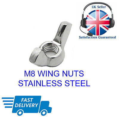 M8 Wing Nuts Stainless Steel Butterfly Form Nuts