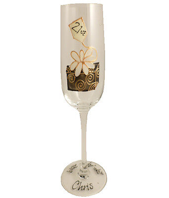 Personalised 21st Gift Birthday Box Champagne Flute