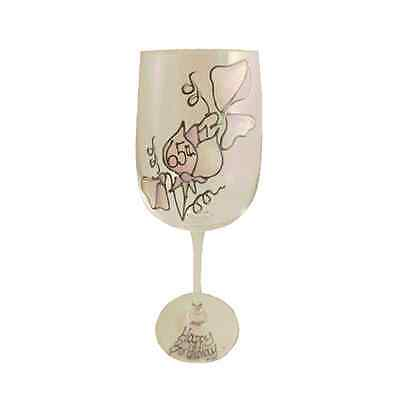 65th Birthday Gift Sweet Pea Gift Wine Glass