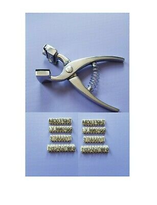 """Small Tattoo Plier kit, 0-9 Digits & A-Z Letters of Size 5/16"""" - Livestock"""