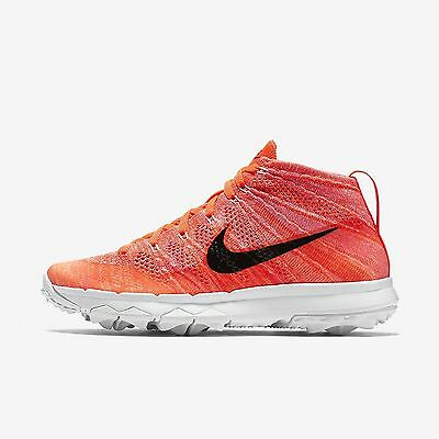 66291ddedd Women s Nike Flyknit Chukka Golf Shoes Spikeless Cleats Size 6.5 Orange  White
