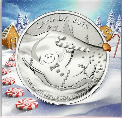 2015 Canada $20. Silver coin Gingerbread  UNC. with a Certificate.