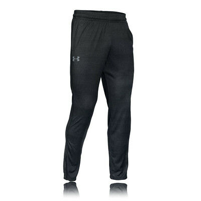 Under Armour Tech Mens Black Wicking Tracksuit Gym Long Sports Pants Bottoms