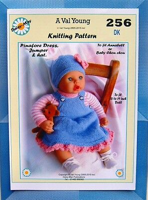 DOLLS KNITTING PATTERN for 1st Baby Annabell 13 /14 inch Doll 246 by Daisy Ma...