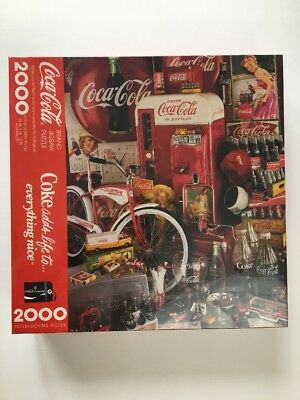 Coca Cola 2000 Piece Puzzle Coke By Hallmark 1991 NEW SEALED