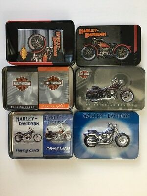 Harley Davidson Collectible Limited Edition Playing Cards NEW SEALED Lot of 3