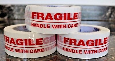 """1-72 Rolls Fragile Handle with Care 2"""" x 55Yds Security Sealing Tape 2in x 55yds"""