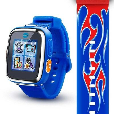 VTech Kidizoom Smartwatch DX - Red Flame with Bonus Royal Blue Wristband