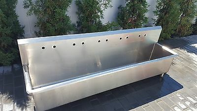 commercial sink 6' stainless steel