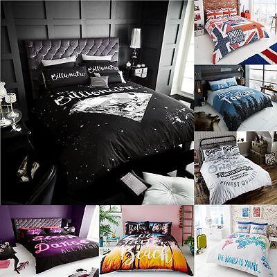 New Luxurious Designs Duvet Covers Quilt Cover Reversible Bedding Sets All Sizes