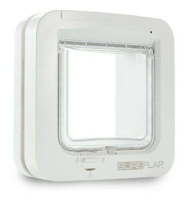 Large Microchip Cat Flap Small Dog Pet Wildlife Door Access Protection White NEW