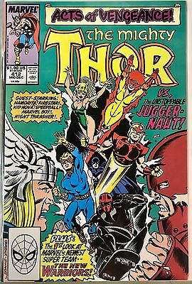 Thor #412 1989 Marvel Comics 1st Appearance Of The New Warriors TV Series nr