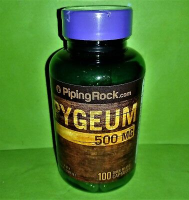 Pygeum 500 mg 100 capsulas Piping Rock