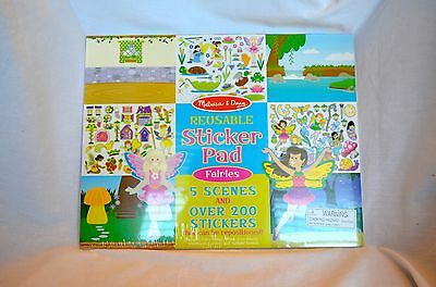 Reusable Sticker Pad Book By Melissa And Doug New Fairy Scenes