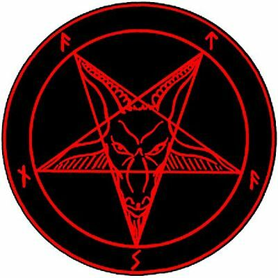 Satanic Pentagram Red Devil Wicca Heavy Metal Magnet, Sticker
