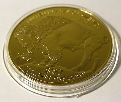 Indian Head - 50 Dollars American Bison 0.999 Gold Coin