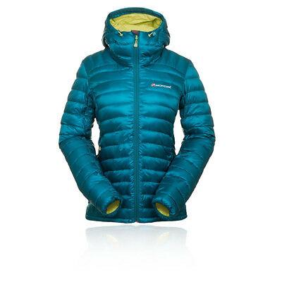 Montane Fem Featherlite Womens Blue Water Resistant Windproof Hooded Jacket Top