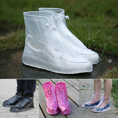 UK Waterproof Rain Shoes Cover Reusable Boots Flat Overshoes Covers Anti Slip