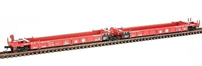 Walthers N 929-8104 Thrall Articulated 48ft Well Cars, Santa Fe SFLC #254181