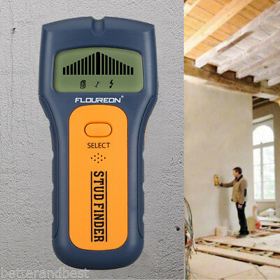 3 in 1 Multi Detector Stud Wood Wall Center Finder Metal AC Live Wire Scanner UK
