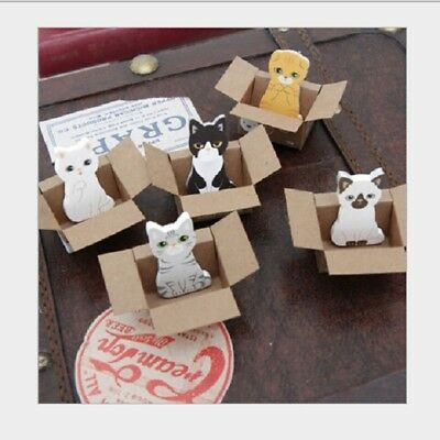 5 x Cute Cat Kitty House It Sticky Notes Sticker Note Bookmark Memo Pads