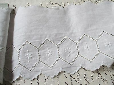 Antique/Vintage Eyelet lace white cotton embroidered/.for dolls Austria