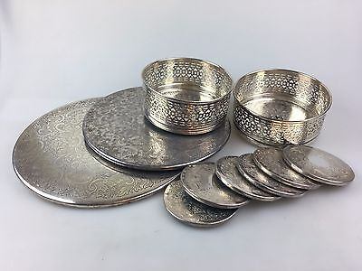 Silver Plate Coasters & Mats - Some Strachan - Drink Coasters, Place Mats ++