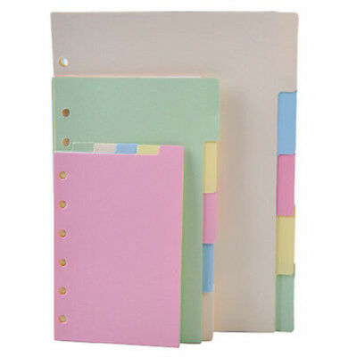 5x A5/A6/A7 COLORFUL Blank Index Tabs Dividers Insert Text Refill Organiser HL5