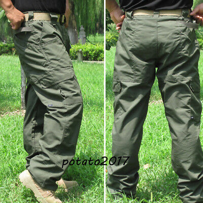 Mens Outdoor Military Tactical Ripstop Combat Trousers Camping Pants Hot 2018