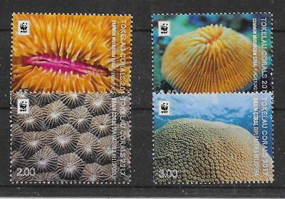 Tokelau Islands 2017 Coral Set Mnh