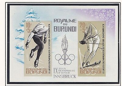 Burundi     1964  18Th Olympic  Games   Imperf  Mnh