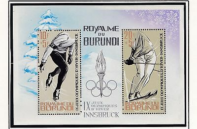 Burundi     1964  18Th Olympic  Games   Souvenir Sheet  Mnh