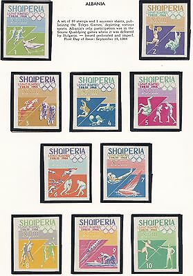 Albania    1964  18Th Olympic  Games  Imperf   Mnh